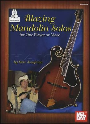 Blazing Mandolin Solos TAB Music Book with Audio for One Player or More