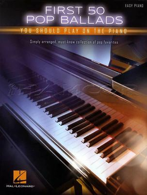 First 50 Pop Ballads You should Play on Piano Sheet Music Book Easy Adele Sting