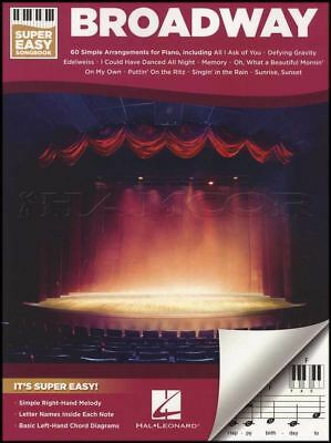 Broadway Super Easy Songbook Keyboard Sheet Music Book Piano Musical Soundtracks