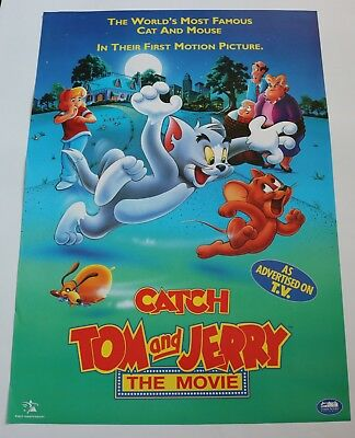 Tom And Jerry The Movie / Original Vintage Video Film Poster / 1
