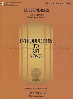 Introduction to Art Song Baritone/Bass Vocal Sheet Music Book with Audio Voice
