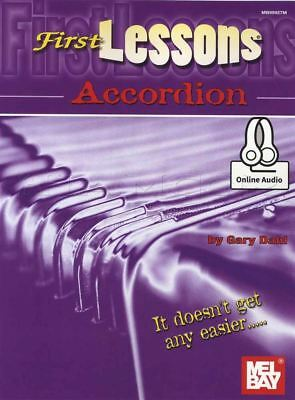 First Lessons Accordion Sheet Music Book with Audio Learn How To Play Method