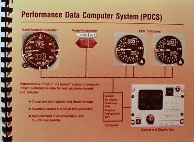 """Brochure commerciale BOEING intitulée """"727/737 PERFORMANCE DATA COMPUTER SYSTEM"""""""