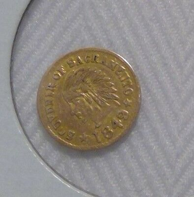 Souvenir Sacramento 1849 California Gold Colored 1/2 Coin/Token Metal?