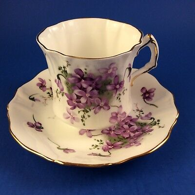 Hammersley Victorian Violets Bone China Tea Cup And Saucer
