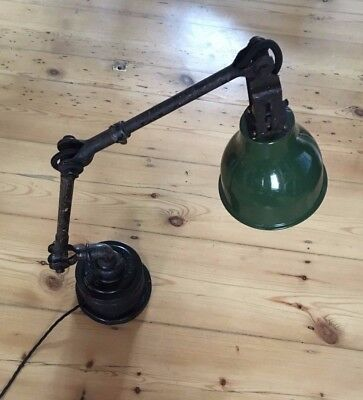 Original Dugdills Machinist Industrial Lamp now a Desk or Table Lamp