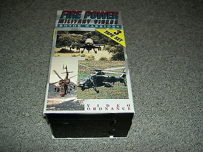"""US-Army/Airforce/Navy """"Fire Power"""" 3er-Set VHS-Video (1994),(ca. je 30 Minuten)"""