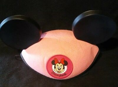 Minnie Mouse Ears Pink Disney Parks Mickey Hat Classic Youth Size No Embroidery