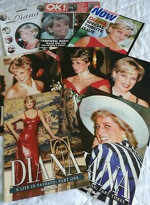 PRINCESS DIANA - a selection of 8 magazines, all in good/very good condition.