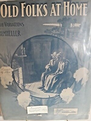 Antique! Black Americana Sheet Music Old Folks At Home NR