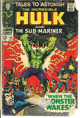 Tales to Astonish #99 January 1967 Marvel Comic Book Cover Only