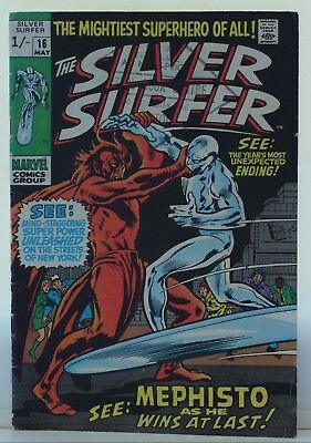marvel comics silver surfer #16 1970