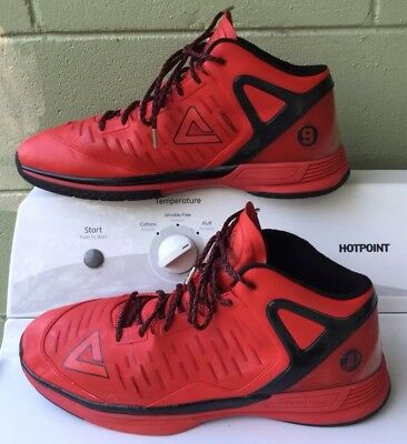 261c6339c4c PEAK Men s Tony Parker Professional Basketball Shoes US size 18 Red Black