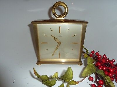Antique Vintage Luxor 8 Day Swiss Mantel Clock Strike  Wind Up Bronze Art Deco