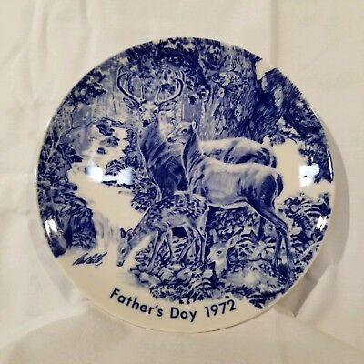 Fathers Day 1972  Collector Plate The Antique Trader Weekly