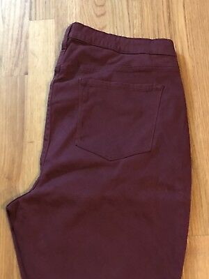 Old Navy Maternity Jean Leggings Maroon 18 Short NEW