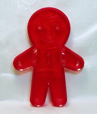 Vintage Design New Plastic Cookie Cutter - Christmas Jolly Gingerbread Man Boy