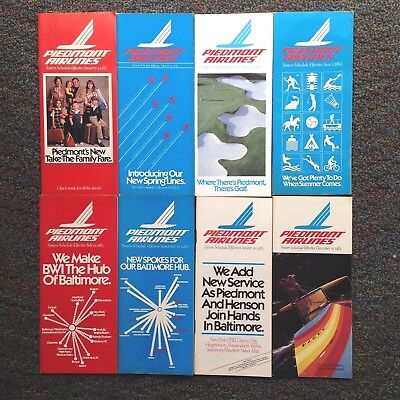 1983 Eight PIEDMONT AIRLINES TIMETABLES Lot VGC 8