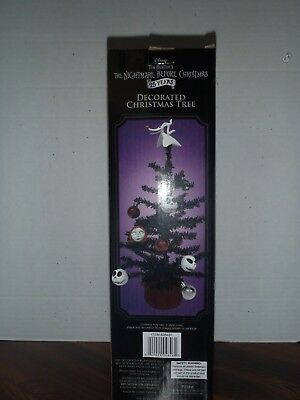 "Disney The Nightmare Before Christmas Decorated Christmas Tree 15"" Tall New 2018"