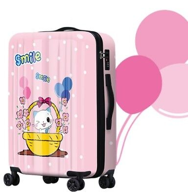E809 Lock Universal Wheel ABS+PC Travel Suitcase Cabin Luggage 20 Inches W