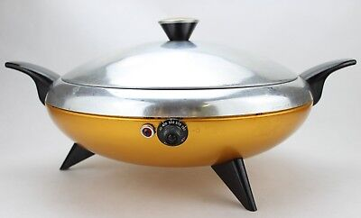 Vintage Atomic MCM Space Age Cory Party Chef Electric Skillet Kitchen 50's (124)