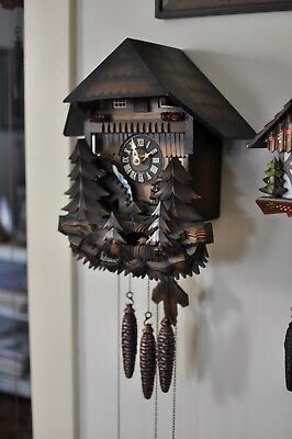 Musical Cuckoo Clock Animated Water Wheel, Dancers, Fox and Rabbits (See Video)