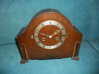 Vintage Enfield Royal Pendulum Movement Chiming Mantel Clock - Needs Tlc