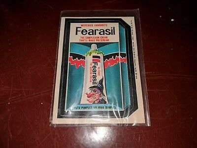 1975 Topps Original Wacky Packages Fearasil white back