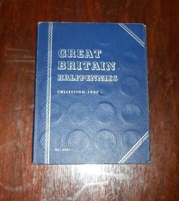 Great Britain Half Penny Whitman Album 1937 To 1967 With Some Coins