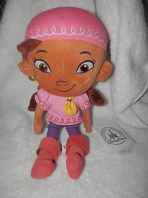 "Disney Store Izzy Plush Doll from Jake & The Never Land Pirates 13"" Tall-NWT"
