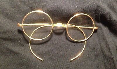 Antique Child's Round Wire Rim  Gold Filled Frame Harry Potter Glasses