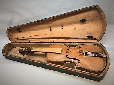 Antique and Authentic Norwegian Hardanger Fiddle, Hardingfele
