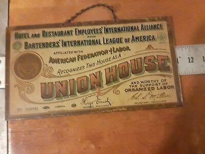hanging metal sign ,UNION HOUSE, very old,good condition , BAR, RESTAURANT,HOTEL