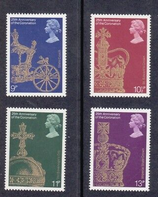 GB 1978 25th Anniversary of the Coronation - Set of 4 - MNH Stamps