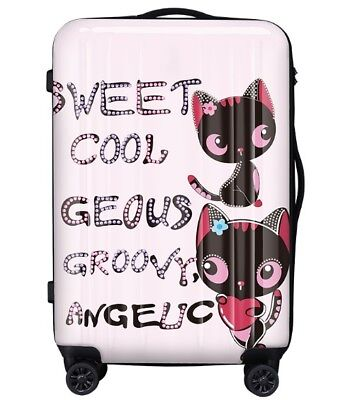 E180 Cartoon Cat Universal Wheel ABS+PC Travel Suitcase Luggage 28 Inches W