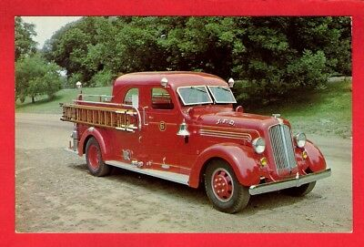 Fire Engine Postcard ~ Preserved 1939 Seagrave 1000 gpm Rig - Audio Visual NY