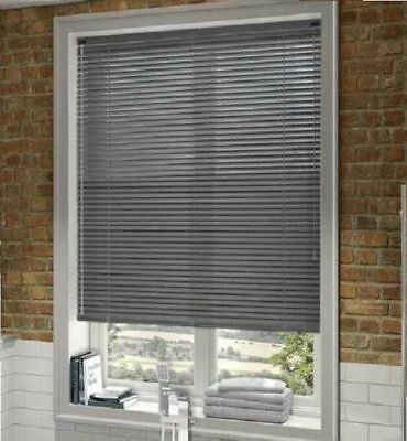 PVC Grey Venetian Window Blinds Blind For Home Office All Sizes & 150/210 Drops