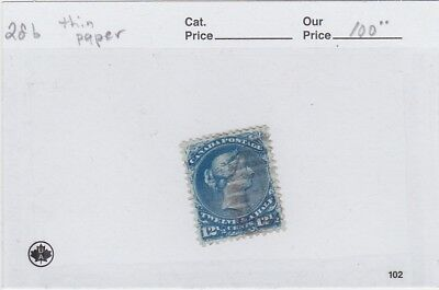 CANADA USED NO 28b,THIN PAPER
