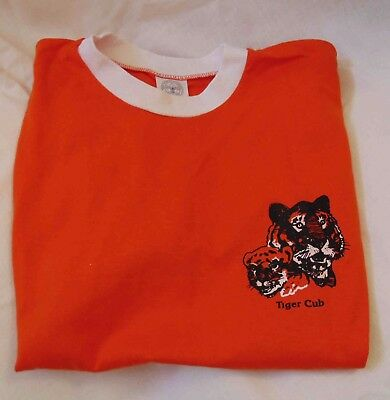 BOY SCOUTS OF AMERICA Tiger Cub SHIRT Size Adult Medium NEW Old Stock Never Worn