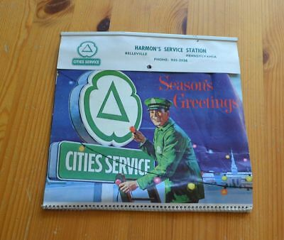 Vtg 1963 Cities Service Calendar - Advertising - Harmon's Station Belleview, PA
