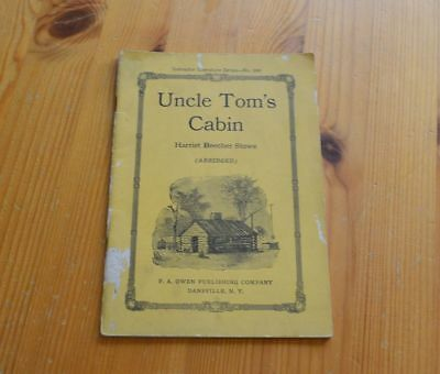 Early 1918 Edition of Uncle Tom's Cabin - Abridged Instructors Series