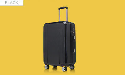 E996 Black Coded Lock Universal Wheel ABS+PC Travel Suitcase Luggage 28 Inches W