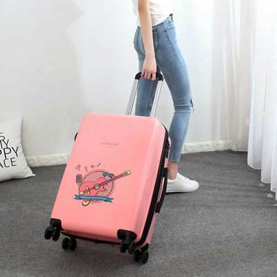 E913 Pink Lock Universal Wheel ABS Travel Suitcase Luggage 20 Inches W