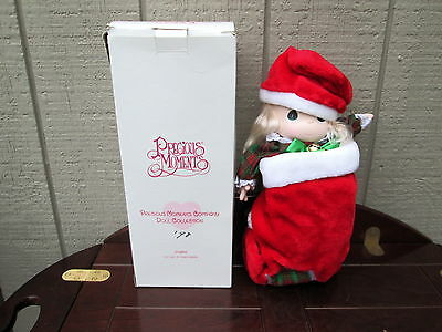 "Precious Moments Stocking Doll ""Jingles"" 1997 Doll Collection QVC exclusive"