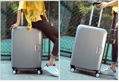 E901 Silver Lock ABS Universal Wheel Travel Suitcase Luggage 24 Inches W
