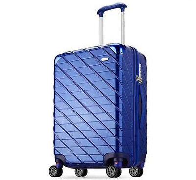E939 Blue Lock Universal Wheel ABS+PC Travel Suitcase Luggage 22 Inches W