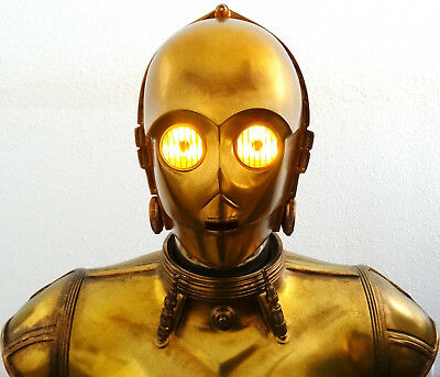 Sideshow Star Wars C-3Po Life Size Bust Statue Figure Defect