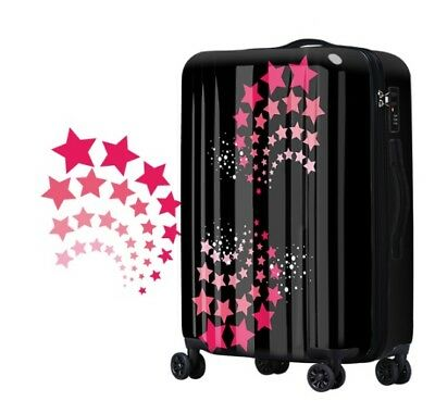 E154 Lock Universal Wheel Star Black Travel Suitcase Cabin Luggage 28 Inches W