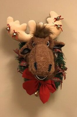 Christmas Moose - Singing, Motion Activated Wall Stuffed Moose Head