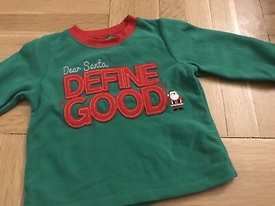 Fleece Long Sleeve Christmas Boys Holiday Baby Shirt Cute Funny 12 Months NWT